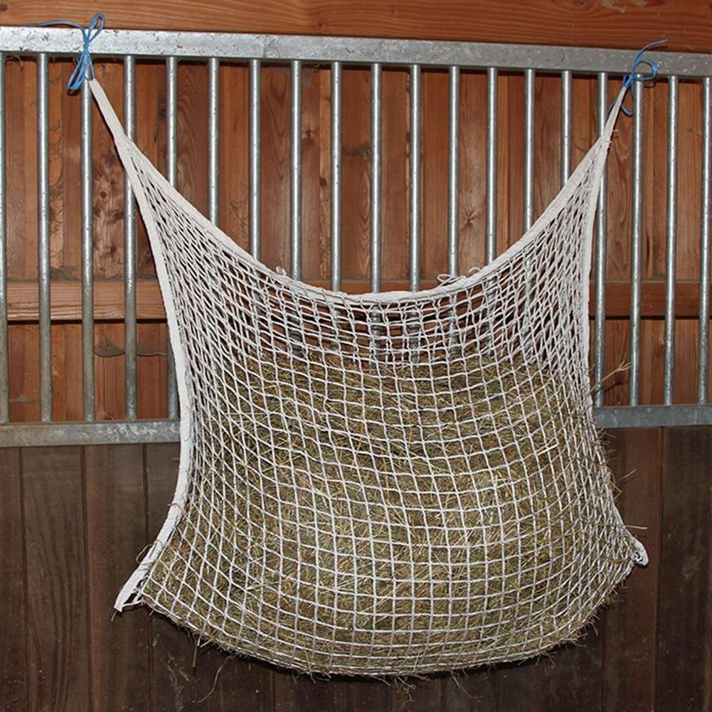 Portable Braided Nylon Cattle Hanging Home Mesh Net Horse Feeding Wear Resistant Farm Space Saving Large Capacity Hay Bag