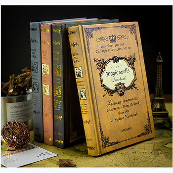 цена на European thick retro magic book notebook stationery creative A5 thickened notebook 21.2x15.5cm diary book classical gift
