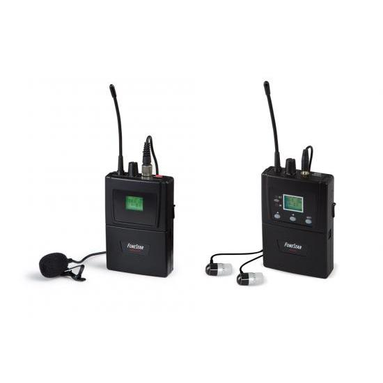 Wireless System IN-EAR Microphone Lapel Free Audio Signal Transmission In The UHF Band 863-865 MHz, Screen Co