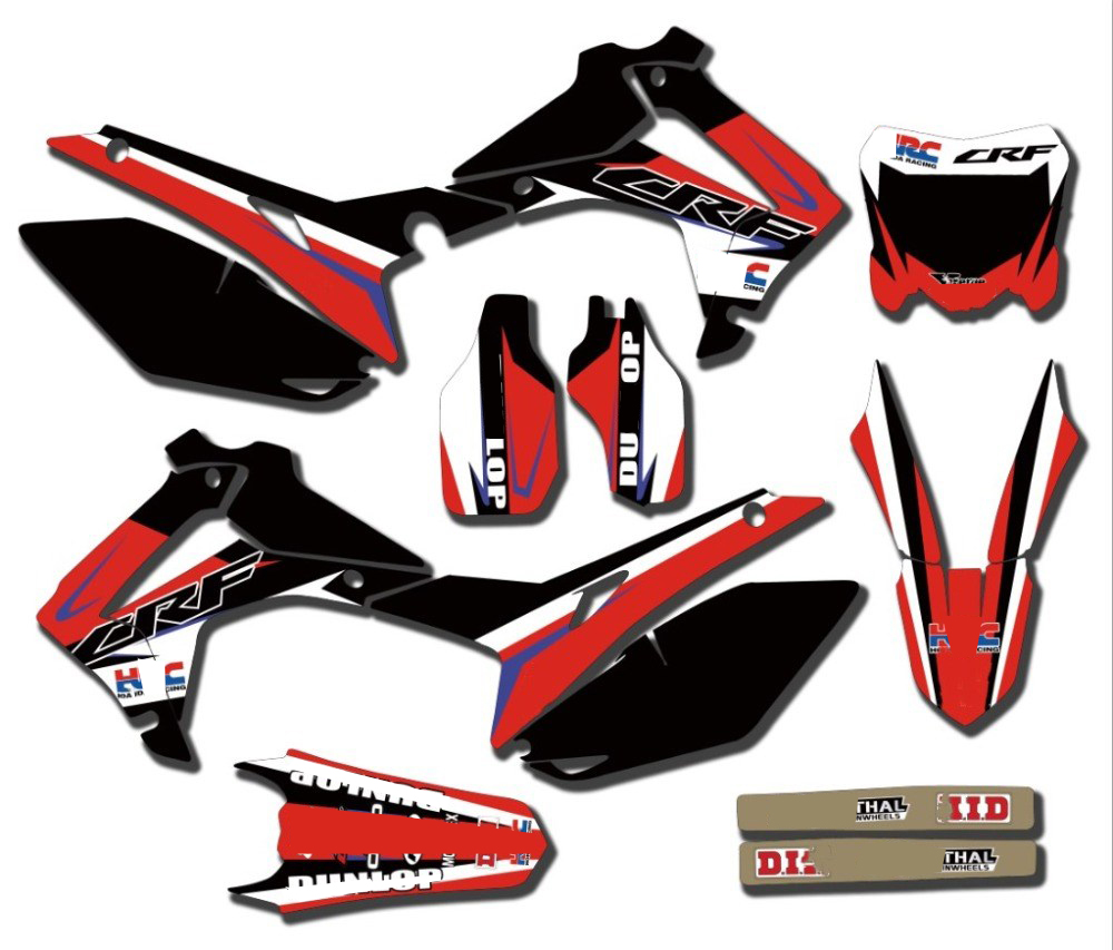 TEAM GRAPHICS DECALS Stickers FOR Honda CRF450R CRF450 2013-<font><b>2016</b></font> CRF250R CRF250 2014 2015 <font><b>2016</b></font> 2017 <font><b>CRF</b></font> 250 450 250R <font><b>450R</b></font> image