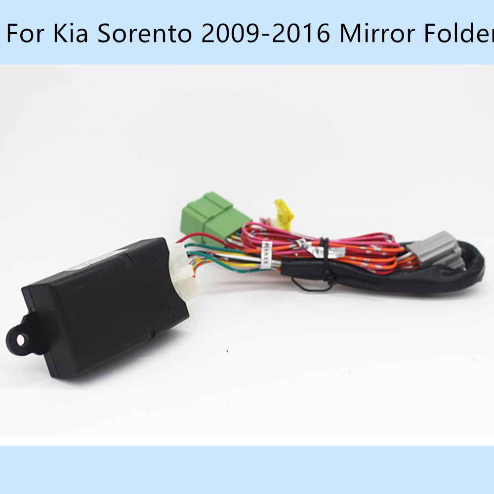Carro automaticamente 2 espelho lateral pasta foding spread kit para kia sorento 2009-2016