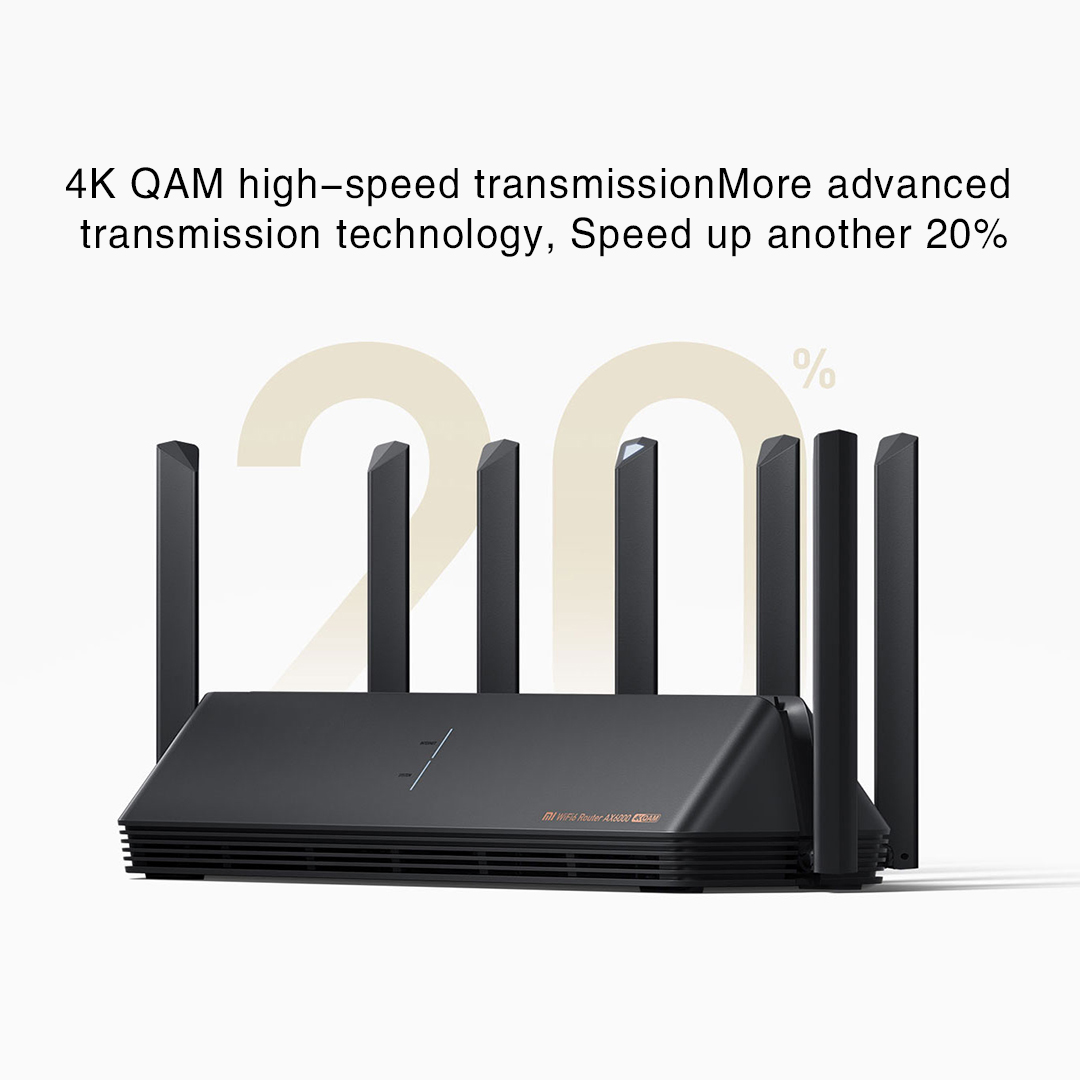 New Xiaomi AX6000 AIoT Router 6000Mbs WiFi6 VPN 512MB Qualcomm CPU Mesh Repeater External Signal Network Amplifier Mi Home 2