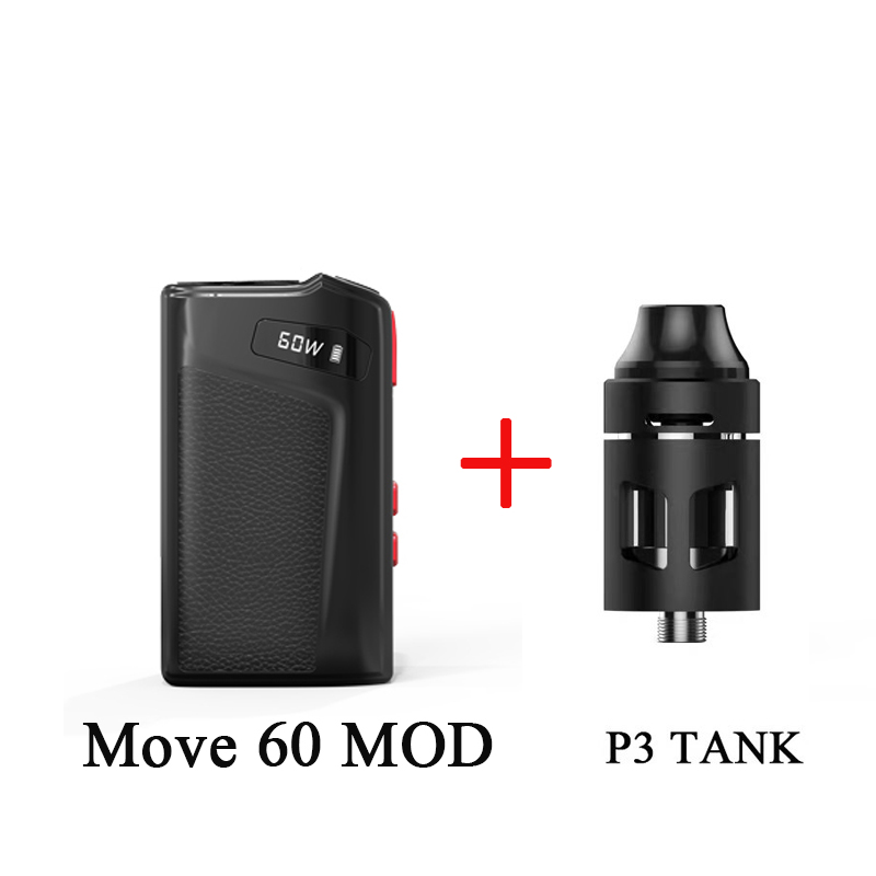 Move 60 Vape MOD With 2100mAh Built In Battery Mod 7-60W 0.69 Inch Display Electronic Cigarette Vaporizer