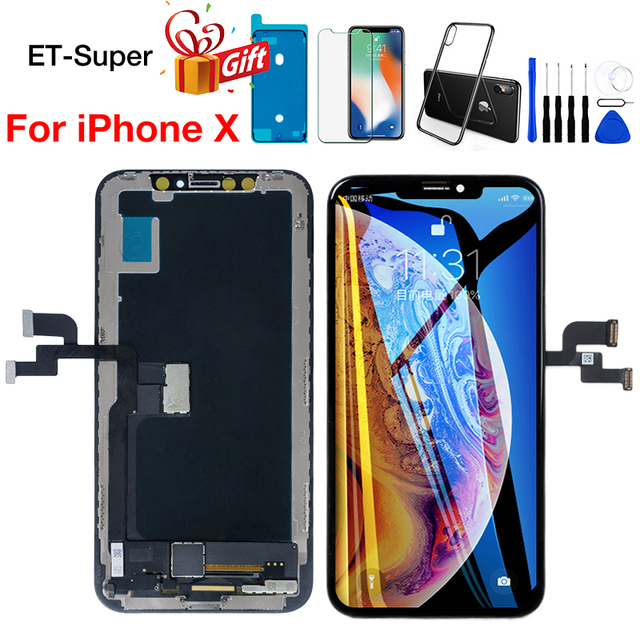 AAA Screen For iPhone X LCD Display+Touch Screen Perfect 3D Touch Digitizer Assembly TFT Tianma for iPhone 10 Replacement Parts