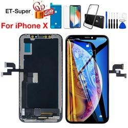 Ukuran Penuh Layar untuk iPhone X LCD Display + Sentuh Layar Sempurna 3D Touch Digitizer Perakitan TFT Tianma untuk iPhone 10 Pengganti