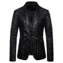 Мужской Блейзер, зима и осень, очаровательный Мужской Модный повседневный приталенный костюм, деловая куртка на одной пуговице, вечерние куртки