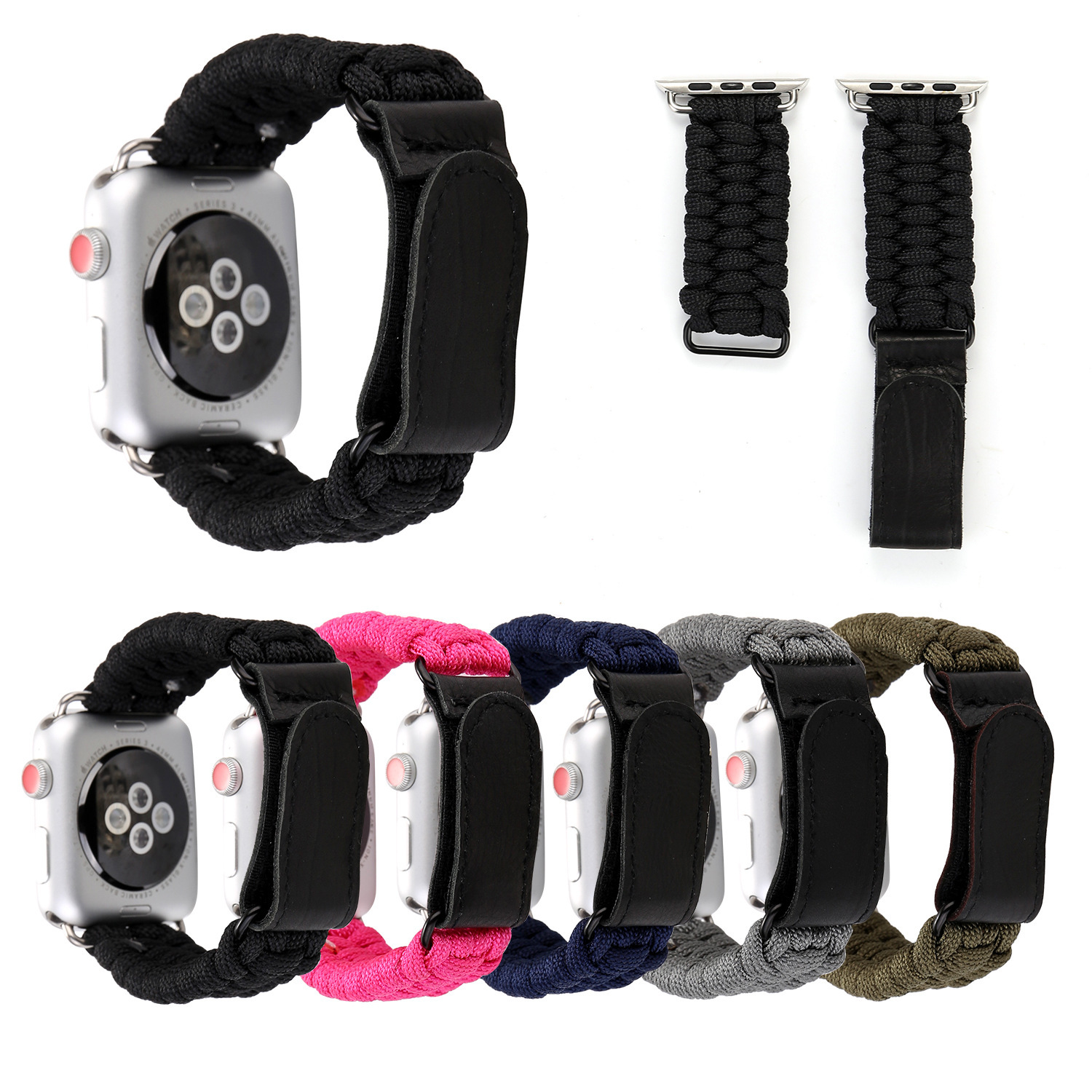 For Apple APPLE Watch4 Velcro Umbrella Rope Watch Strap Watch IWatch Outdoor Umbrella Rope Watch Strap Hot Sales