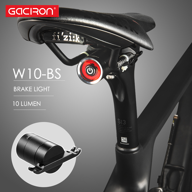 GACIRON Usb Bike Tail Light Lantern Smart Brake Sensor Taillights MTB Road Cycle Rear Led Waterproof Bycicle Back Lights
