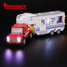 BriksMax Led Light Up Kit For City Series Pickup & Caravan Building Blocks Compatible With 60182 (NOT Include Model)