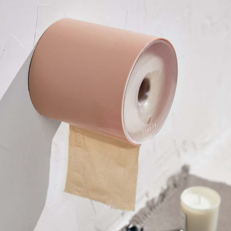 Wall Mounted Toilet Roll Paper Holder Round Tissue Box Cover Napkin Towel Dispenser Container Waterproof for Bathroom Car Office
