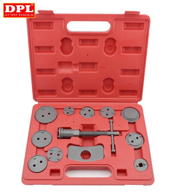 12pcs/Set Universal Car Disc Brake Caliper Rewind Back Brake Piston Compressor Tool Kit Set For Automobiles Garage Repair Tools