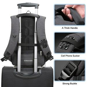Image 5 - Kingsons mały plecak Laptop 13.3 15.6 Cal mężczyźni kobiety biznes wypoczynek podróże plecaki wewnętrzna kieszeń plecak torba studencka