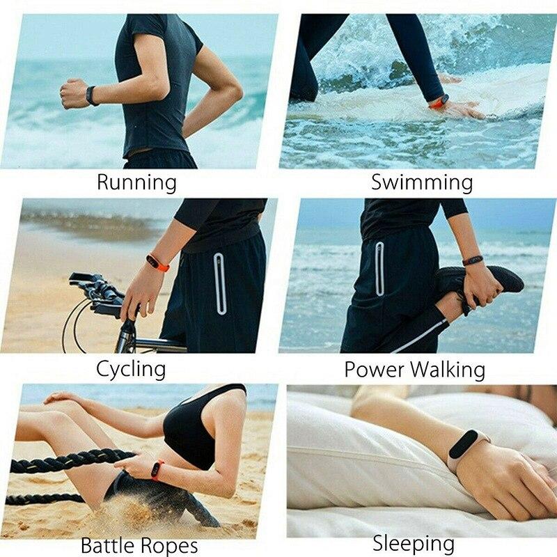 Bluetooth M4 смарт-браслет водонепроницаемые часы измерение артериального давления монитор сердечного ритма фитнес-трекер Смарт-браслет PK M3 Plus 6