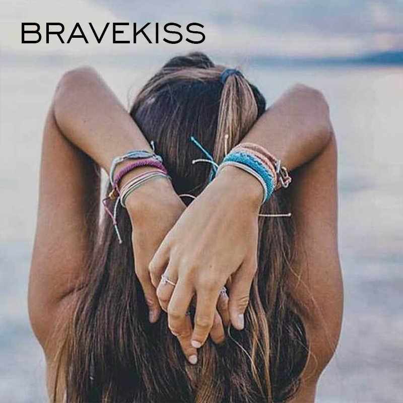 Bravekiss Kleurrijke Armbanden Set Gift Voor Meisje Handgemaakte Armbanden Vriendschap Vsco Meisje Armbanden Boho Femme Accessoires BPB0507