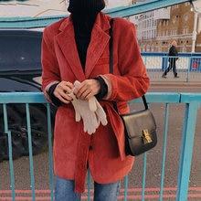 Винтажное женское вельветовое платье блейзер на шнуровке весна