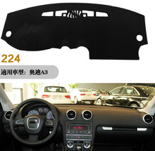For Audi A3 2010-2013 Car Dashboard Avoid Light Pad Instrument Platform Desk Cover Mat Auto Styling