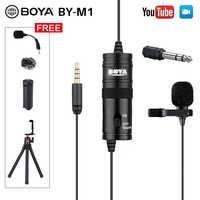 ПК / телефон / камера микрофон BOYA Всенаправленный Петличный конденсаторный микрофон петличка микрофон для телефона Canon Sony DSLR микрофон петли...