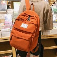 Yeni Trend kadın sırt çantası naylon su geçirmez kadın sırt çantası saf renk okul çantası genç kızlar için rahat omuz çantaları kadın