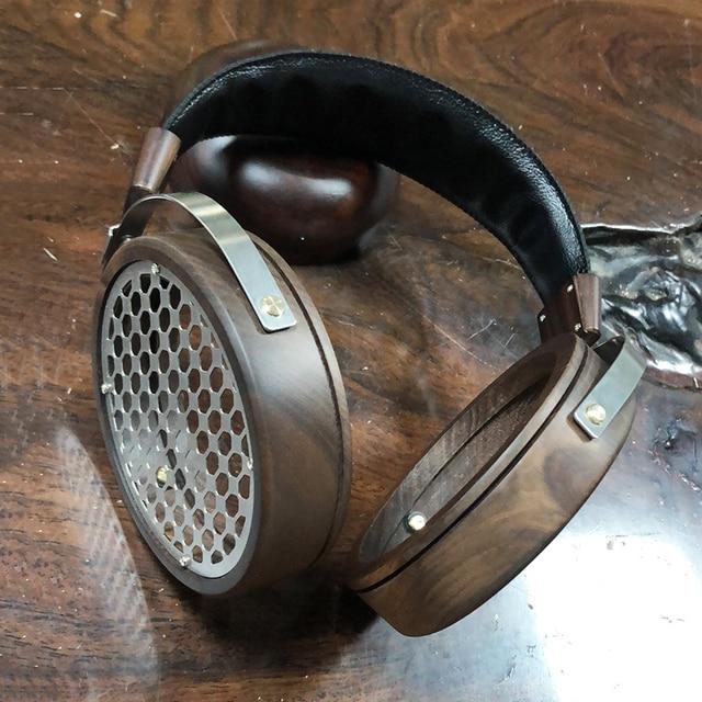 105mm Large Headphone Housing Open Type Headset Headphone DIY Customized Wood Headphone Shell Case