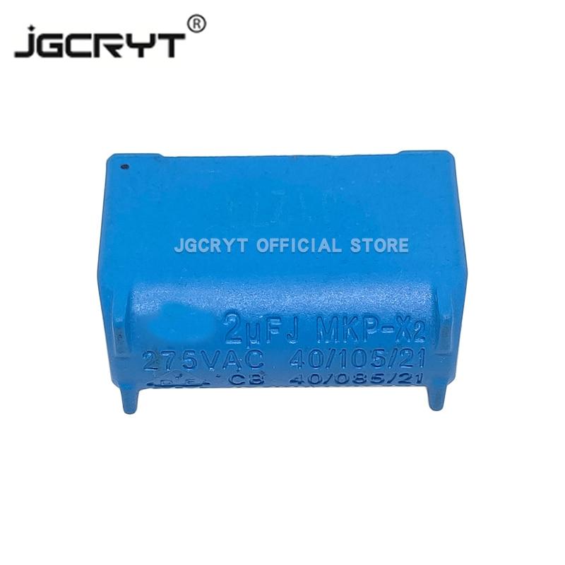 5 шт./lote 2 мкФ 275VAC J MXP-X2 крестообразный анти-помех микросхема конденсатора вертикального высокого напряжения MKP индукционная плита