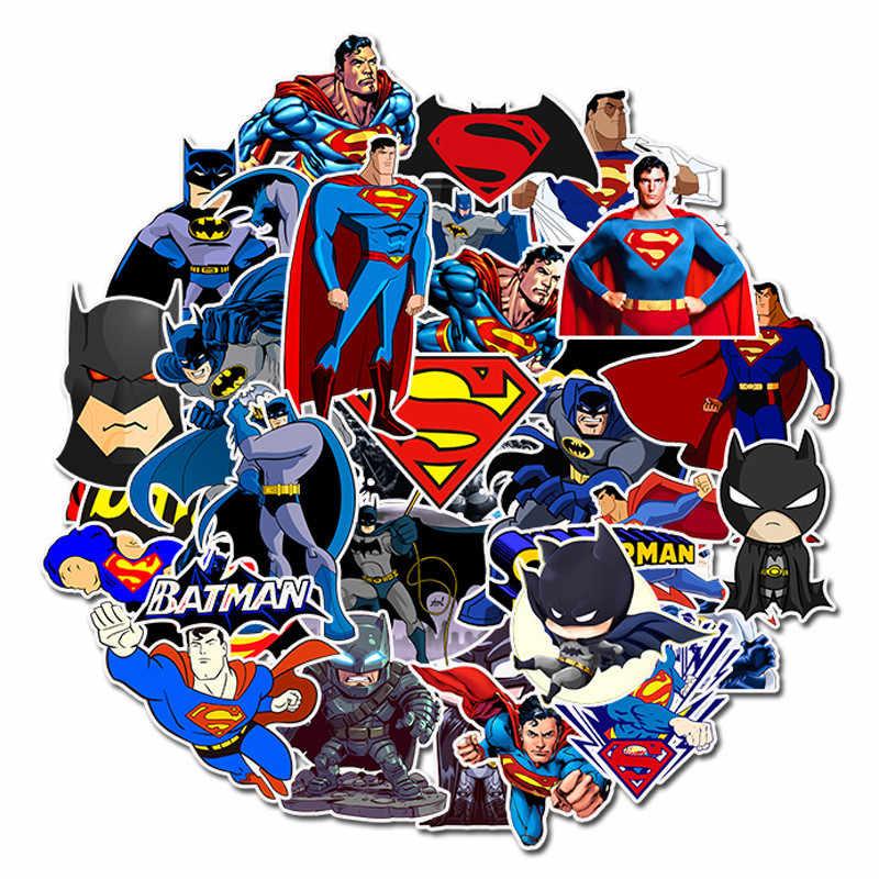45 шт. супер герой, супермен, бэтмен наклейки граффити наклейки для багажа скейтборд телефон loptop велосипед стены гитары скрапбукинг