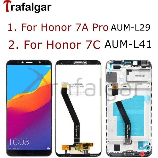 "5.7 ""Display Für Huawei Ehre 7C LCD Display 7A ATU LX1 Touchscreen Für Honor 7A Pro Display Mit Rahmen AUM L29 AUM L41"
