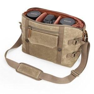 Image 4 - Toile étanche DSLR sans miroir sac photo voyage en plein air randonnée photographie sacs à bandoulière étui pour Canon Nikon Sony Panasonic
