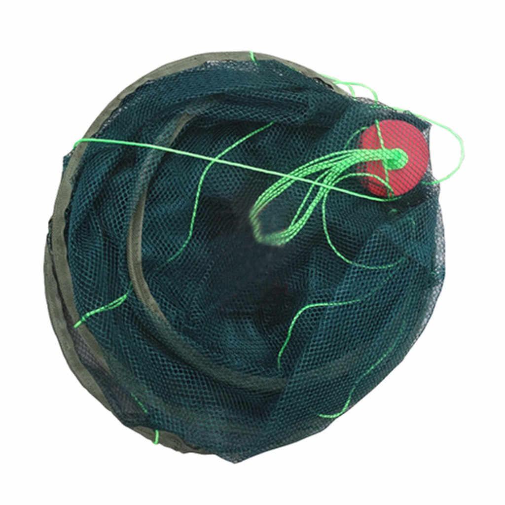 25 # alta qualidade dobrável gota grande rede de pesca náilon durável landing net camarão isca de camarão camarão armadilha de peixe fundido rede de pesca