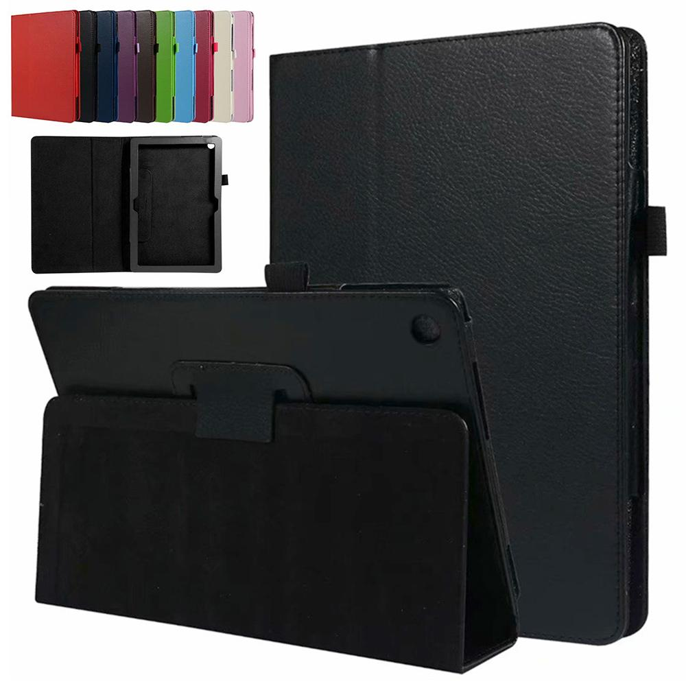 For <font><b>Huawei</b></font> MediaPad M5 lite <font><b>Tablet</b></font> <font><b>Case</b></font> T5 10 <font><b>10.1</b></font> inch Honor Smart Cover Flip Stand <font><b>Case</b></font> HDL-W09 8.0 PU Leather Sleep Wake Up image