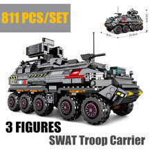 New Military Series Troop Carrier Fit Legoings Technic Tank Swat War Truck Building Blocks Bricks Toys Gift