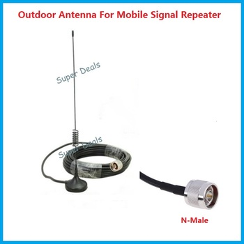 Cell Phone Signal Booster antenna 2G 3G 4G Repeater Antenna N male with 10m cable for CDMA GSM WCDMA signal amplifiers
