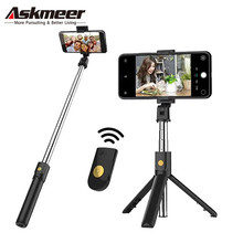 ASKMEER Wireless Bluetooth Selfie Stick Remote Min