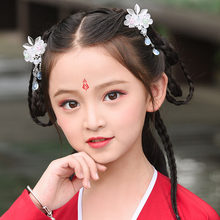 Kids Super Fairy With Fake Jewelry Ancient Costume Hanfu Hairpins Step Shake Hair Accessories Hradwear(China)