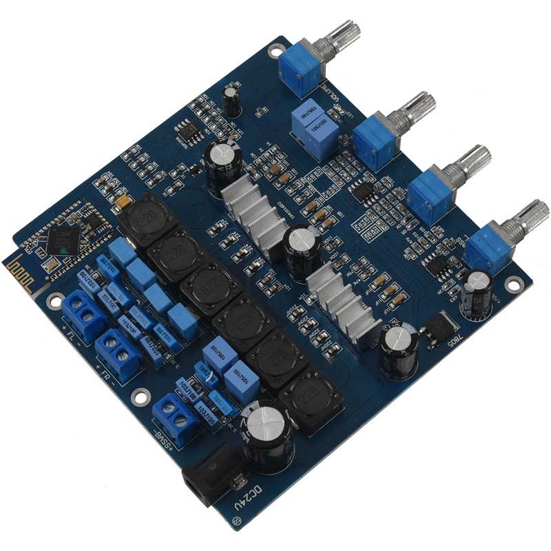 TPA3116 2.1 50WX2+100W+ Bluetooth Class D power amplifier Completed board image