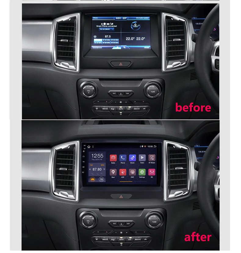 Dvd ラジオコシェフォードレンジャー車のマルチメディア自動 2015 1din アンドロイドプレーヤー車のリアビューカメラ、 Gps ナビゲーションステレオ
