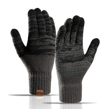 Rękawiczki do ekranu dotykowego do zimowej wełny dzianinowe rękawiczki męskie damskie ciepłe rękawiczki Outdoor Driving rękawice odporne na zimno Guantes Mitt tanie i dobre opinie yanyanmumu Dla dorosłych CN (pochodzenie) Unisex Akrylowe Stałe Nadgarstek Moda acrylic Clothing gloves men s warm magic Gloves