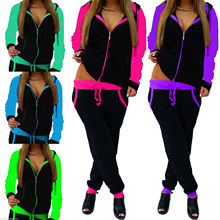 2019 Autumn And Winter Women's Europe And The United States Hot Sale Casual Knit Sportswear Suit Women  2 Pc Women Set hot sale europe and the united states 2019 spring and summer woman s gown big pendulum style loose casual women s dress