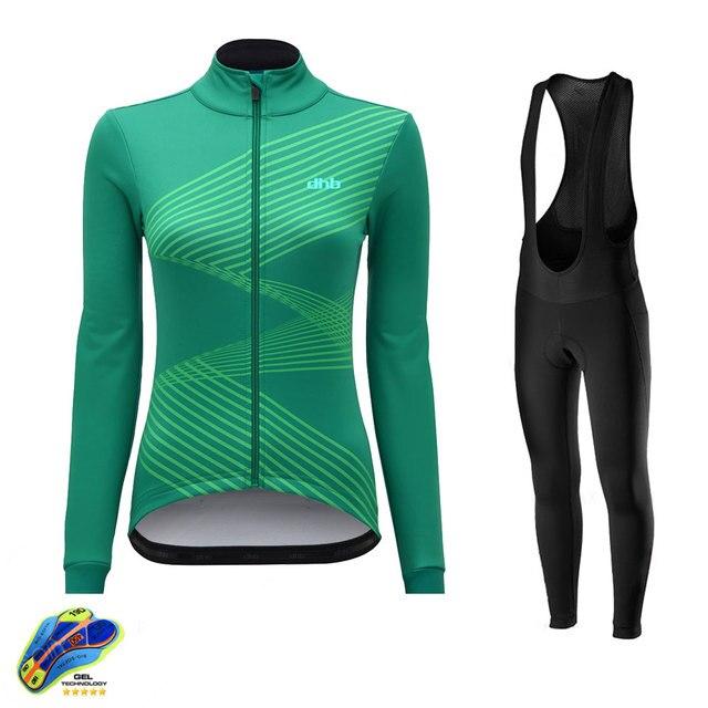 Dhb ciclismo jerseys 2020 pro equipe da bicicleta uniforme das mulheres roupas de ciclismo mtb bib longo conjunto camisa ropa ciclismo triathlon 2