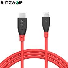 BlitzWolf Typ C zu Blitz Kabel PD3.0 Ladegerät 3A Für iPhone Kabel Schnell Lade Mit MFI Zertifiziert für iPhone 11 PRO XR