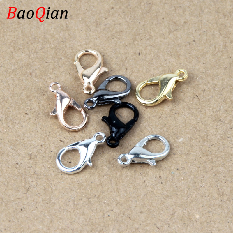 50PCS Alloy Lobster Clasp Hook For Fashion Jewelry Making DIY Necklace Bracelet Connector Closure Accessories