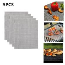 Nonstick Glass Fiber BBQ Grill Mat Barbecue Grilling Pad Nonslip Baked Mesh Heat Resistant Tool for Outdoor