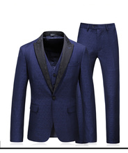 3 Pieces Men Suits Designers 2019 Mens Clothing Wedding Set Slim Fit Tuxedo Solid Color Royal Blue 5XL Plus Size Mauchle