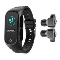 Reloj inteligente N8 para hombre y mujer, pulsera con Bluetooth completamente táctil, control del ritmo cardíaco, auriculares inalámbricos para Fitness, resistente al agua