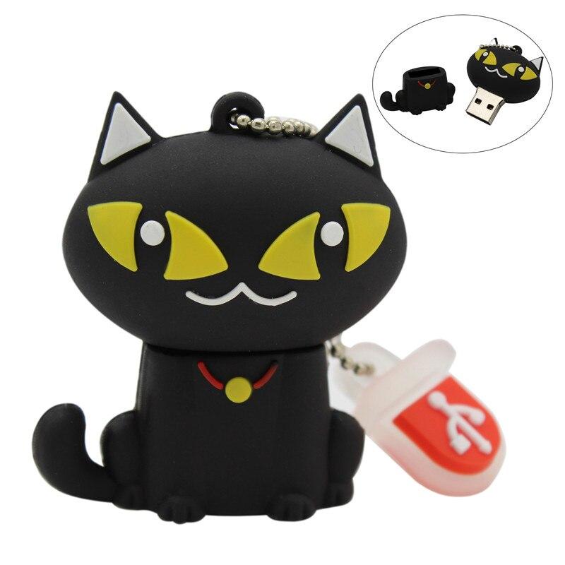 TEXT ME Cartoon  64GB  Cute Bell Cat USB Flash Drive 4GB 8GB 16GB 32GB Pendrive USB 2.0 Usb Stick