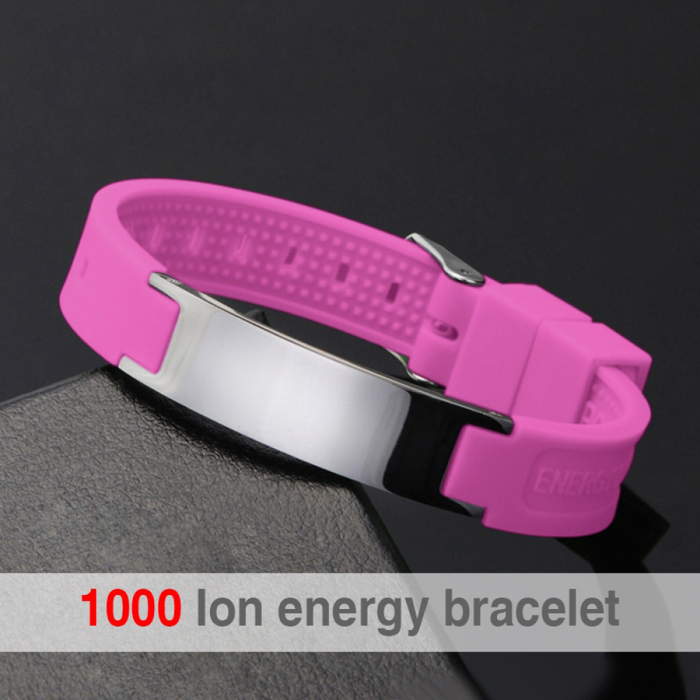 Black (Colour) Power Silicone Wristband 4 In 1 Bio Elelents Energy Magnetic Bracelet For Men Wrist Band Keep Balance Bracelets