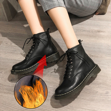 Plus Size 34-43 New Women Motorcycle Ankle Boots Fashion Female Lace Up Autumn Winter Genuine Leather Oxford Shoes Woman Boots zbzfsk genuine leather women boots lace up fringe long boots shoes woman autumn winter tassel knee high boots plus size 34 43