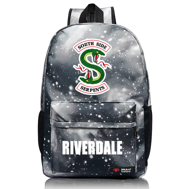 Riverdale South Side Snake School Student Backpack Shoulder Travel Bag Cosplay Bag Halloween Gift