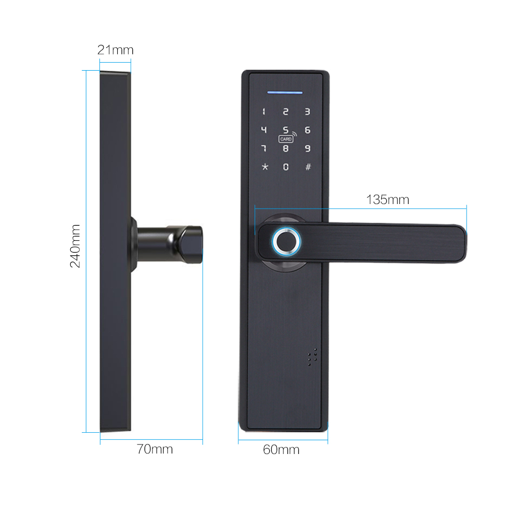 Fingerprint-Lock Door-Lock Biometric Tuya Wifi Hotels RFID Intelligent Password Security