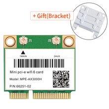 3000 mb/s Wifi 6 sieć Wlan karta Wifi Bluetooth 5.0 dwuzakresowy 1/802/ac Adapter bezprzewodowy pół Mini PCI-E 2.4Ghz/5Ghz MU-MIMO