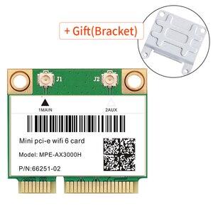 3000 Мбит/с Wi-Fi 6 сеть Wlan Wi-Fi Карта Bluetooth 5,0 двухдиапазонный 802.11ax/ac беспроводной адаптер Половина мини PCI-E 2,4 ГГц/5 ГГц